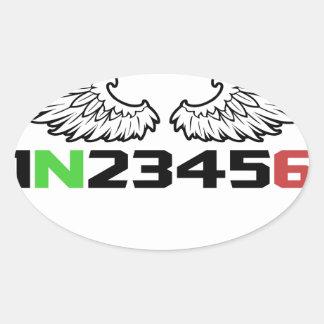 anjo 1N23456 Adesivo Oval