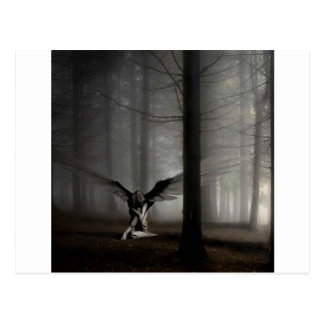Anjo abstrato anjo caído cartão postal
