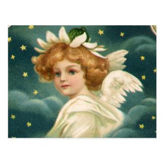 Anjo angélico do Natal do Victorian do vintage, Cartões Postais
