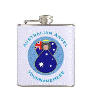 Anjo australiano no quadrado Squiggly branco e Cantil