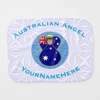 Anjo australiano no quadrado Squiggly branco e Fraldinhas De Ombro