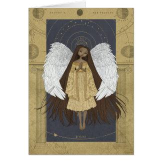Anjo celestial cartão
