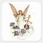 Anjo com a flor da cruz e do Clematis Adesivo