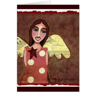 Anjo com bolinhas - cartão da estrela