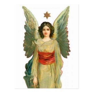 Anjo com estrela do ouro cartão postal