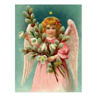 Anjo com o vestido cor-de-rosa bonito cartão postal