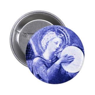 Anjo com pandeiro boton