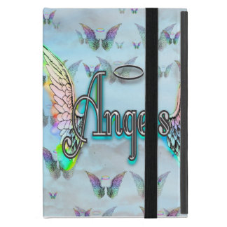 Anjo da arte da palavra com asas & halo iPad mini capa