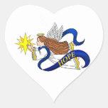 """""""Anjo da esperança """" Adesivo Coração"""
