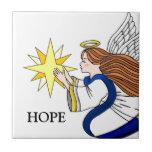 """""""Anjo da esperança """" Azulejo De Cerâmica"""