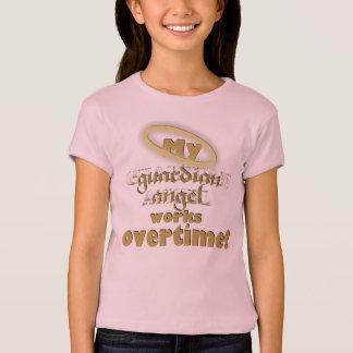 Anjo-da-guarda - boneca das meninas (cabida) camiseta