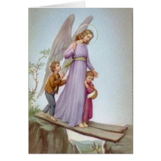 Anjo-da-guarda Cartão Comemorativo