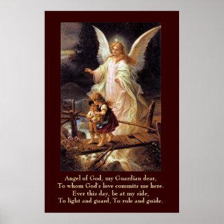 Anjo-da-guarda, crianças, ponte pôster