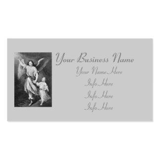 Anjo-da-guarda e criança cartão de visita