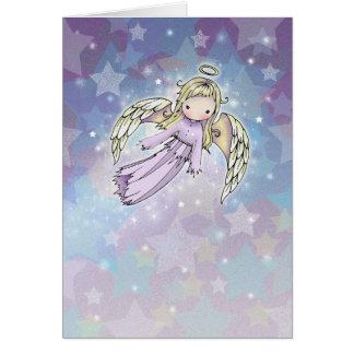 Anjo da lavanda no cartão de Natal das estrelas