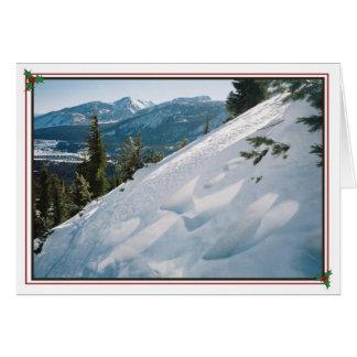 Anjo da montanha cartão
