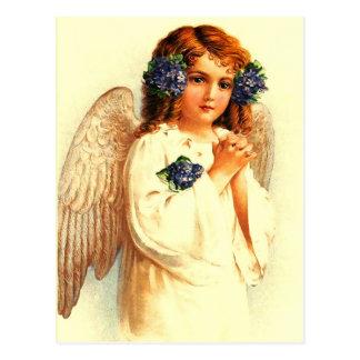 Anjo da páscoa do vintage. Cartão cristãos da pásc Cartoes Postais