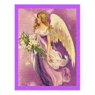 Anjo da páscoa do vintage cartão postal