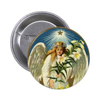 Anjo da páscoa do vintage, cordeiro, flor do lírio pins