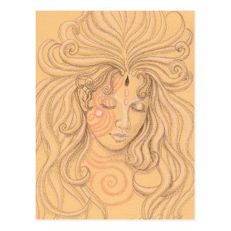 anjo da sereia com tatuagem cartão postal