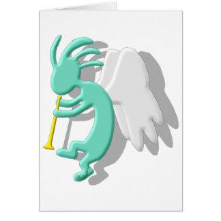 Anjo de Kokopelli Cartão
