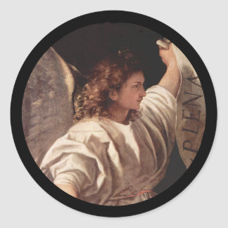 Anjo de Titian com bandeira Adesivo