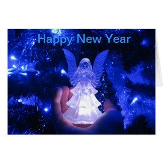 Anjo do ano novo cartão comemorativo
