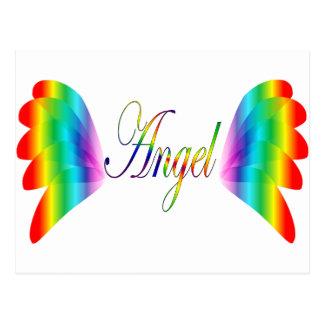 Anjo do arco-íris & asas do anjo cartão postal