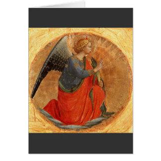 Anjo do aviso c1437 cartão comemorativo