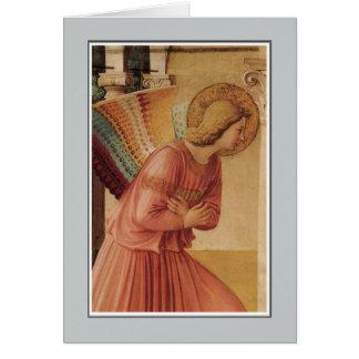 Anjo do aviso por Fra Angelico Cartão