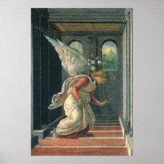 Anjo do aviso por Sandro Botticelli Pôster