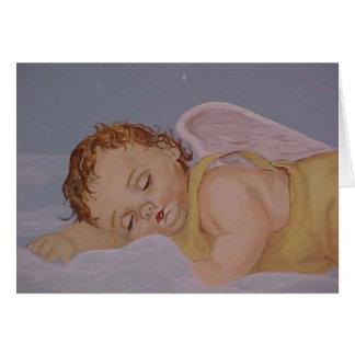 Anjo do bebê dos sonhos doces cartão comemorativo