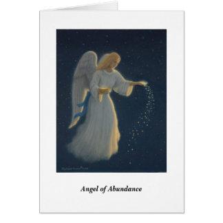 Anjo do cartão da abundância