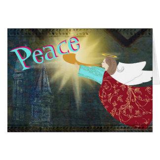 Anjo do cartão de Natal da paz