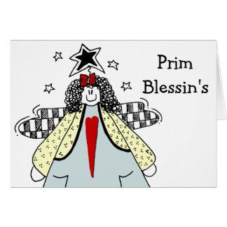 Anjo do Customizeable de Blessin Prim com coração Cartão Comemorativo