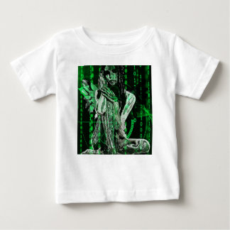 Anjo do Cyber Camiseta Para Bebê