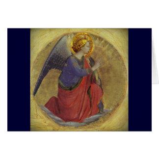 Anjo do Fra Angelico do aviso Cartão