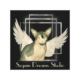 Anjo do gato das canvas Sphynx Impressão Em Canvas