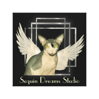 Anjo do gato das canvas | Sphynx Impressão Em Tela