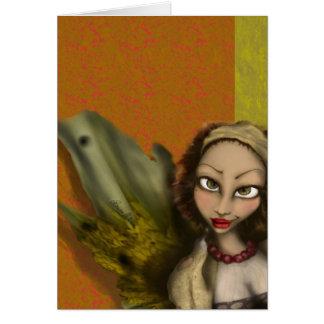 Anjo do lírio cartão comemorativo
