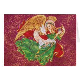 Anjo do Natal - Ange De Noel Cartão Comemorativo