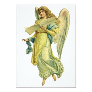 Anjo do Natal do Victorian; Gloria em Excelsis Deo Convites Personalizado