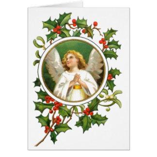 Anjo do natal vintage cartão comemorativo