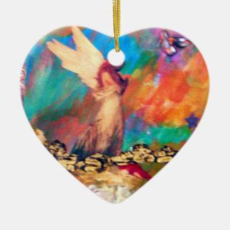 Anjo do ornamento da lembrança do coração