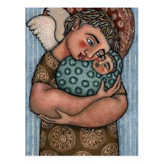 Anjo do pai e do bebê cartão postal