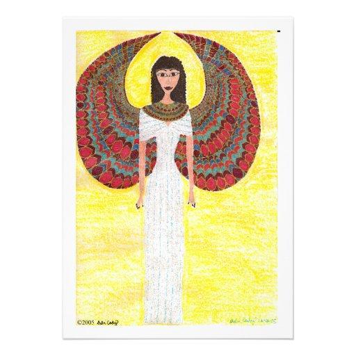 Anjo egípcio antigo convite personalizados