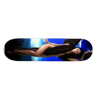 Anjo escuro, deusa divina, mulher do shaman, shakt skates