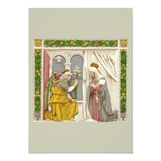 Anjo Gabriel o aviso a Mary Convite 12.7 X 17.78cm