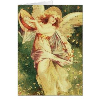 Anjo lindo cartão comemorativo