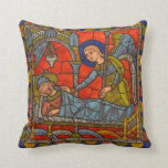 Anjo medieval de Chartres da janela de vitral Travesseiro De Decoração